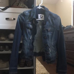 cute jean jacket from guess